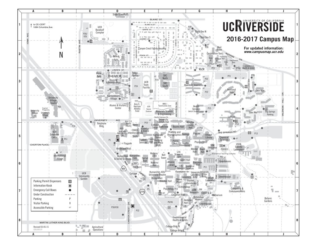 UCR campus map PDF