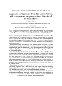 Comments on`Kaersutite from San Carlos, Arizona, with comments