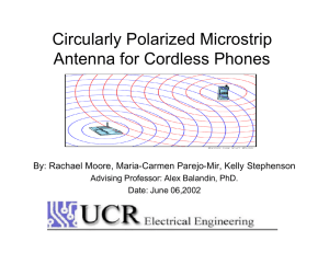 Circularly Polarized Microstrip Antenna for Cordless Phones