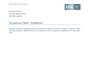 Compliance Table - European Banking Authority