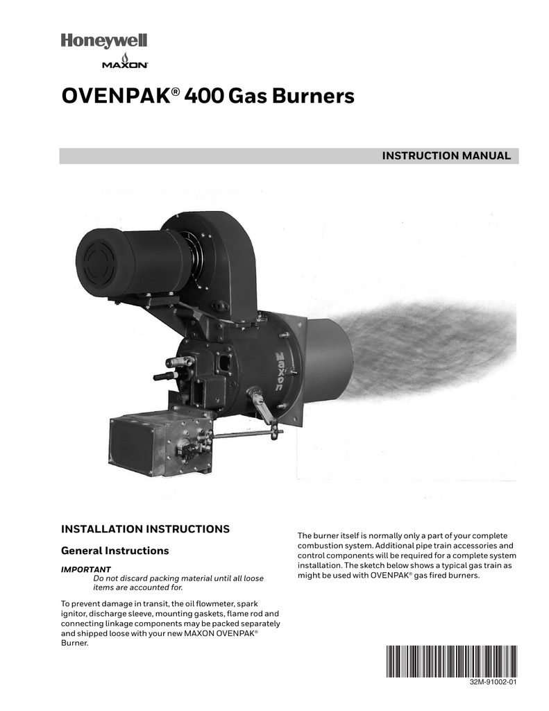 32m 91002 01 ovenpak® 400 gas burners