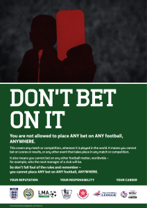 You are not allowed to place ANY bet on ANY football