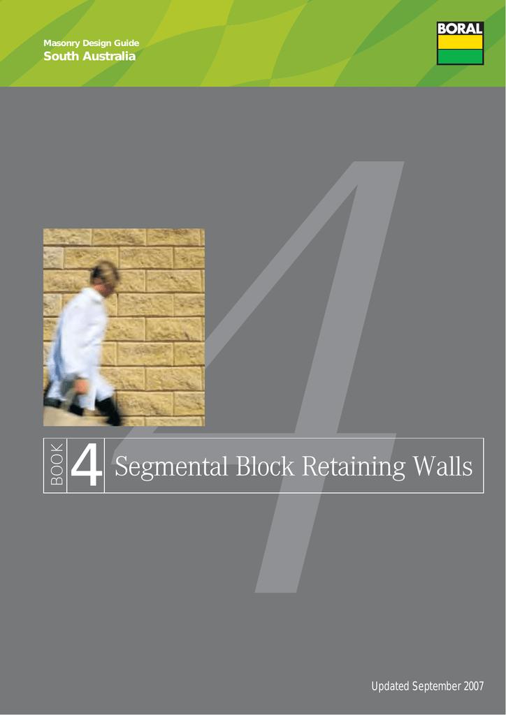 Segmental Block Retaining Walls
