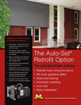 The Auto-Set® Retrofit Option