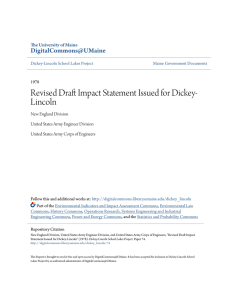 Revised Draft Impact Statement Issued for Dickey