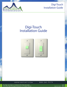 Digi-Touch Installation Guide