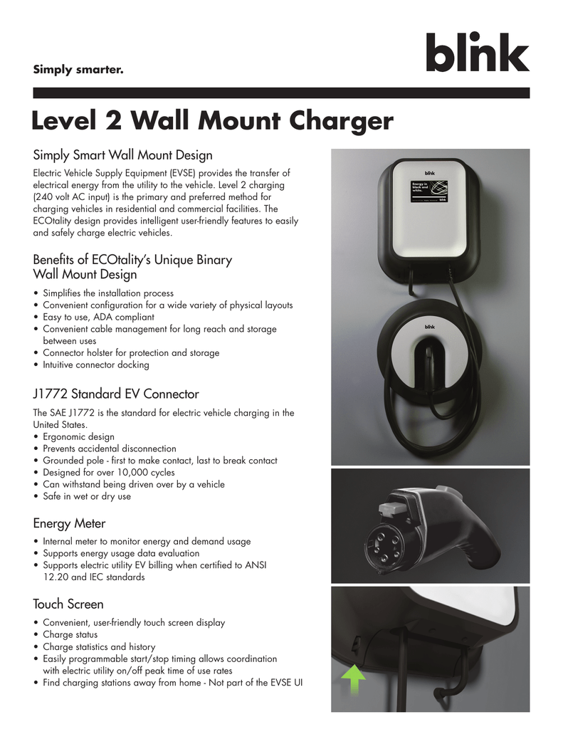 Level 2 Wall Mount Charger