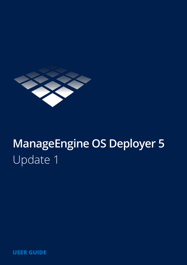 ManageEngine OS Deployer 5 Guide