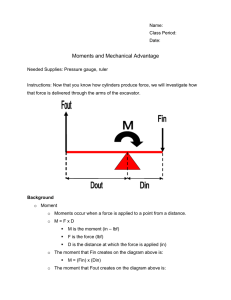 Moments and Mechanical Advantage