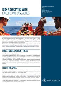 risk associated with failure and casualties