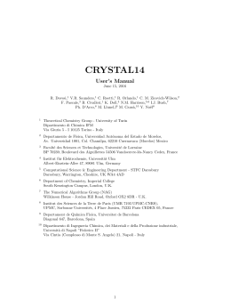 CRYSTAL14 Manual