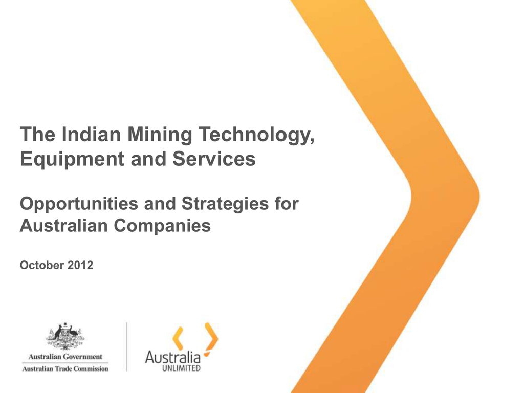 The Indian Mining Technology, Equipment and Services