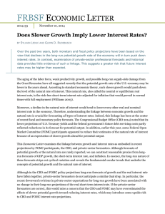 Does Slower Growth Imply Lower Interest Rates?