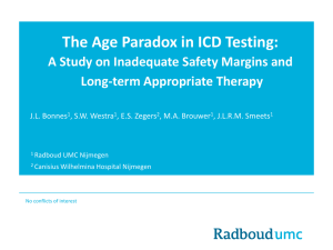 The Age Paradox in ICD Testing: A Study on Inadequate Safety