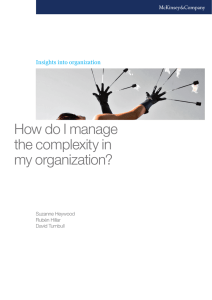 How do I manage the complexity in my organization?