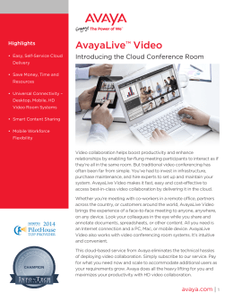 AvayaLive Video Fact Sheet