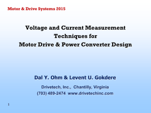 Voltage and Current Measurement Techniques for Motor Drives and