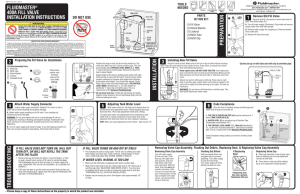 Fill Valve Installation Instructions