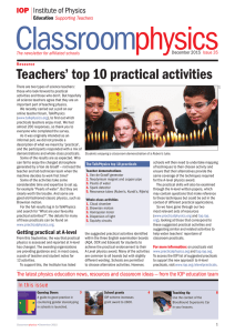 Teachers` top 10 practical activities