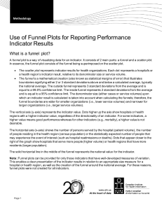 Use of Funnel Plots for Reporting Performance