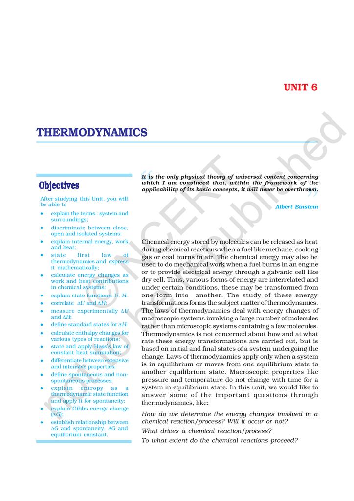 thermodynamics - NCERT (ncert nic in)
