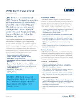 Printable 2015 UMB Bank Fact Sheet