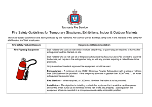 Fire Safety Guidelines for Temporary Structures, Exhibitions, Indoor