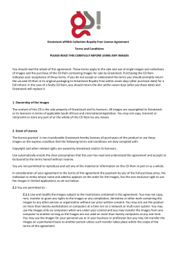 Greatstock aFRIKA Collection Royalty Free License Agreement