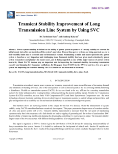 Transient Stability Improvement of Long Transmission
