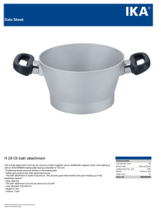 Data Sheet H 29 Oil bath attachment