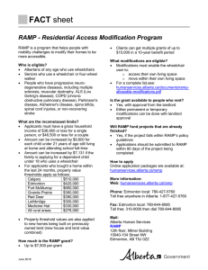 Residential Access Modification Program (RAMP