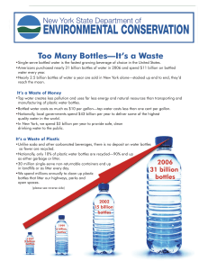 Water Bottle Fact Sheet - Too Many Bottles--