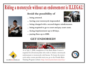 Avoid the possibility of GET ENDORSED!!