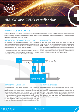 NMi GC and CVDD certification