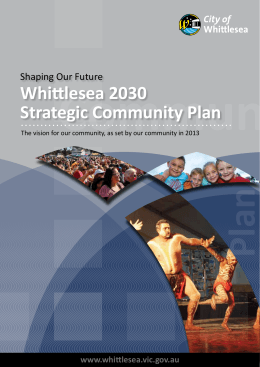 Community Plan - City of Whittlesea