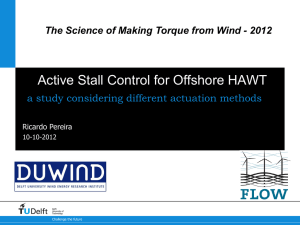 Active Stall Control for Offshore HAWT