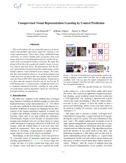 1. Unsupervised Visual Representation Learning by Context
