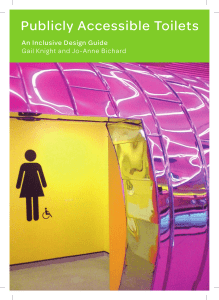 Publicly Accessible Toilets: An Inclusive Design Guide
