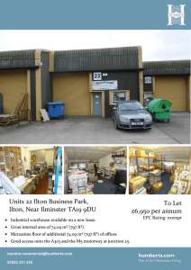 Units 22 Ilton Business Park, Ilton, Near Ilminster TA19 9DU To Let