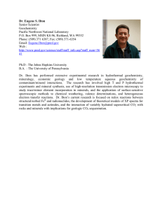 Dr. Eugene S. Ilton Senior Scientist Geochemistry Pacific Northwest