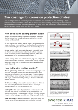 Zinc coatings for corrosion protection of steel