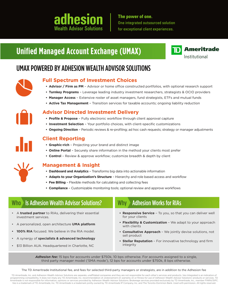 Unified Managed Account Exchange Umax