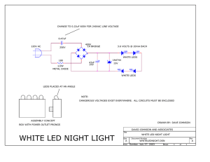 white led night light