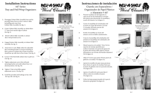 Instrucciones de instalación Installation Instructions