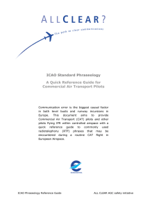 ICAO Standard Phraseology A Quick Reference Guide