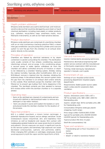 Sterilizing units, ethylene oxide