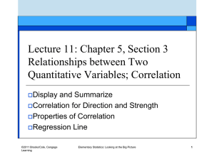 Lecture 11: Chapter 5, Section 3 Relationships between Two