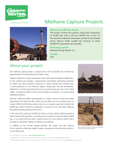 Methane Capture Projects