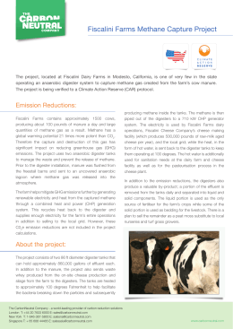 PDF - Fiscalini Farms Methane Capture Project