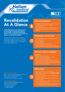 Revalidation At A Glance